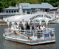 Saugatuck Michigan has one of the oldest hand-cranked chain ferries in America. It operates only in the summer and is takes visitors across the Kalamazoo River by an operator hand-cranking it along a chain that stretches across the river. The Star of Saugatuck is an old fashioned stern wheeler that shuttles passengers on tours of the river and along the Lake Michigan shoreline. Passengers can see cottages, extravagant homes, forests, wetlands and a panorama of dunes. Cross the Kalamazoo River in Saugatuck via one of the oldest hand-cranked chain ferries. Tour the Valley Camp Ship museum in Sault Saint Marie.